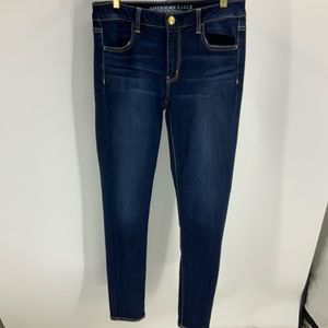 American eagle super stretch dark wash jegging 10